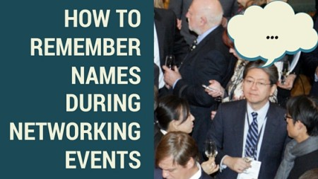How to Remember Names During Networking Events