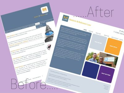 website design baldwin and robinson