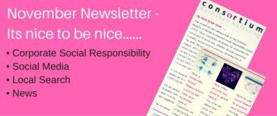 november newsletter from Worthing Marketing Consultants