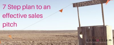 7 Step plan to an effective sales pitch