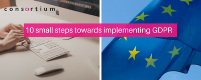 10 small steps towards implementing GDPR