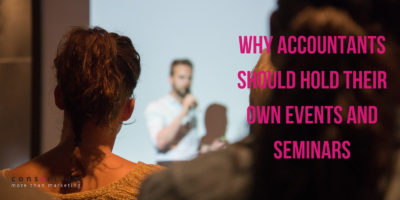 Why Accountants Should Hold Their Own Events and Seminars
