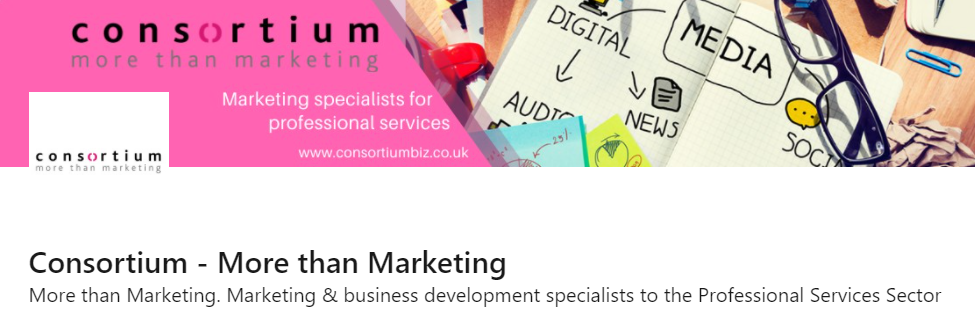 maximise the impact or you company LinkedIn page - banner example